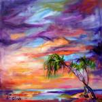 """Florida Beach and Palms Sunrise"" by GinetteCallaway"