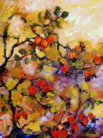 Rosehips Modern Impressionism Oil Painting