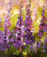 Lupines Impressionist Flower Painting