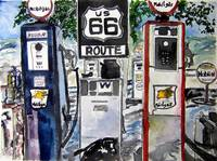 route 66 americana southwestern original art paint