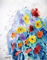 flower yupo painting