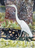 herron bird painting