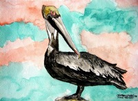 wildlife art prints pelican bird 3