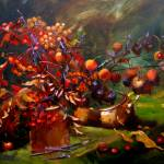 """Autumn Still Life with Crab Apple"" by marinazavalova"
