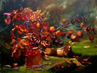 Autumn Still Life with Crab Apple