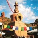"""Sedona stupa ceremony"" by barbarabackyard"