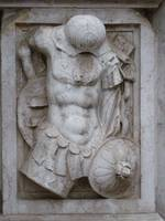 Detail relief, Doges palace, Venice