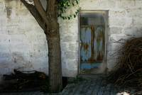 Turkish Village Door And Tree