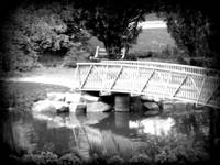 Bridge at the Water Works B&W