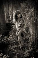 Isabella in the Garden BW