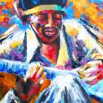 """Jimi Hendrix Portrait-VooDoo Child"" by phoenixwmn"