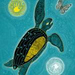 """Sea Turtle and the Butterfly"" by MickSylvestre"