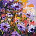 """African Daisies Flower Oil Painting"" by GinetteCallaway"