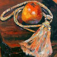 Apple & Tassel Still Life Painting by Ginette Call