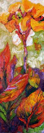 Calla Lily Exotic Flower Oil Painting by Ginette C