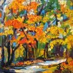 """Georgia Autumn Landscape oil Painting"" by GinetteCallaway"