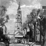 """Carleston South Carolina in Charcoal"" by GinetteCallaway"