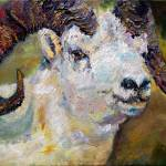 """Dall Sheep Ram Original Oil Painting"" by GinetteCallaway"