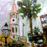 Charleston South Carolina Church Painting