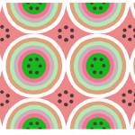 """circles AB Pink Green"" by LeslieTillmann"