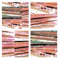 bamboo collage 4x4 rose gold