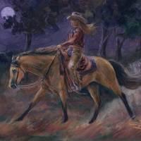 Midnight Ride Art Prints & Posters by Jenifer Trottier