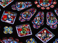 Chartres cathedral glass