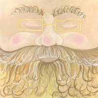 Curly Face Santa Art Prints & Posters by Tracy Glover