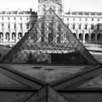 """Aligned Pyramids at the Louvre"" by DonnaCorless"