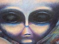 alien closeup