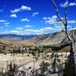 """A View of Mammoth Hotsprings"" by PhotosByKMT"