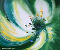 From the Heart of a Flower, Green, by Gina De Gorn