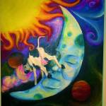 """The Cow Jumped Over the Moon"" by hannahsart"