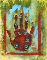 Abstract Chakra Hand