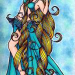 """Aquarius Belly Dancer"" by lacychenault"