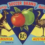 """Australian Soccer Fruit Label"" by LABELSTONE"