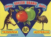 Australian Soccer Fruit Label