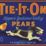 """Tie It On TIETON Dog Pear Label"" by LABELSTONE"