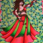"""Ruby Belly Dancer"" by lacychenault"