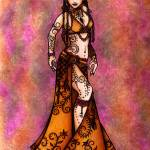 """Capricorn Tribal Belly Dancer"" by lacychenault"