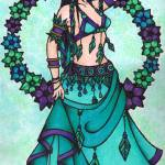 """Lina Belly Dancer"" by lacychenault"