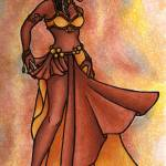 """Nubian Sister Belly Dancer"" by lacychenault"