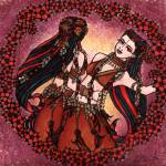 """Gemini Tribal Belly Dancers"" by lacychenault"