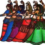 """Tribale Line Belly Dancers"" by lacychenault"