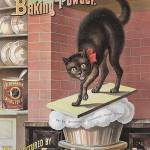 """Black Cat Vintage Advertisement"" by LABELSTONE"