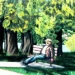 """greenlake ponderer"" by joshuabloch"
