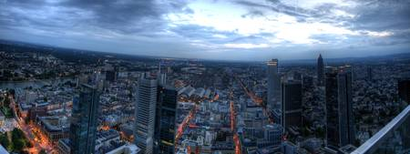 Frankfurt Skyline HDR Panorama from Main-Tower