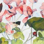 """Cyclamen"" by janporterfieldwatercolors"