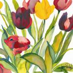"""Red & Yellow Tulips"" by janporterfieldwatercolors"