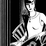 """Deco Lady, 1931 ad detail (artist unattributed)"" by arcaniumantiques"